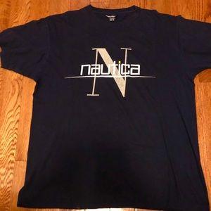 Nautica Large Vintage Navy T Shirt